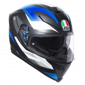 Casque Integral AGV K-5 S Marble Matt Black White Blue