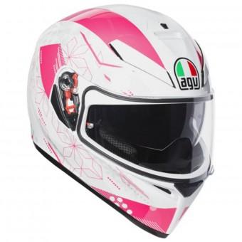 Casque Integral AGV K3 SV Izumi White Pink