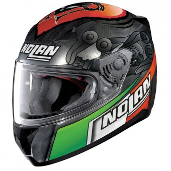 Casque Integral Nolan N60 5 Gemini Replica M. Melandri Chrome 35