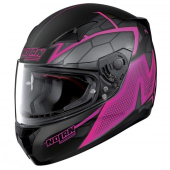 Casque Integral Nolan N60 5 Hexagon Flat Black Fuchsia 17