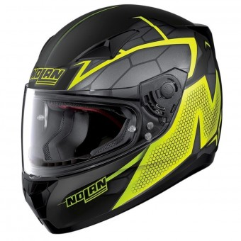 Casque Integral Nolan N60 5 Hexagon Flat Black Yellow 16