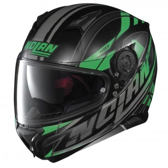 Casque Integral Nolan N87 Fulmen N-Com Flat Black Green 53