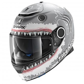 Casque Integral Shark Spartan Replica Lorenzo White Mat Shark SWA