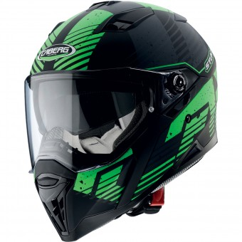 Casque Integral Caberg Stunt Blizzard Matt Black Green Fluo