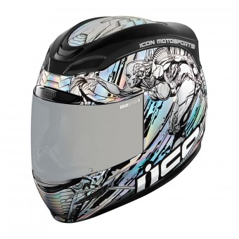 Casque Integral ICON Airmada Mechanica Gris