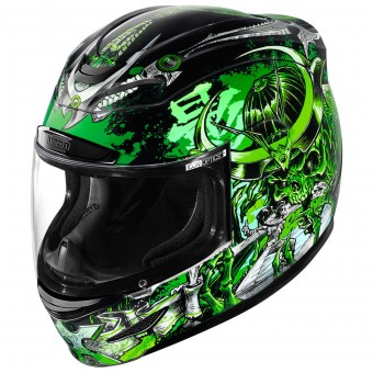 Casque Integral ICON Airmada Shadow Warrior Green