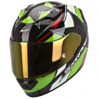 Casque Integral Scorpion EXO 1200 Air Stella Verde Rojo