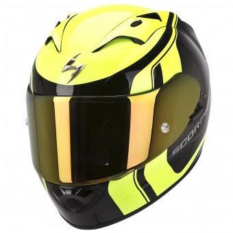 Casque Integral Scorpion EXO 1200 Air Stream Tour Negro Amarillo Fluo