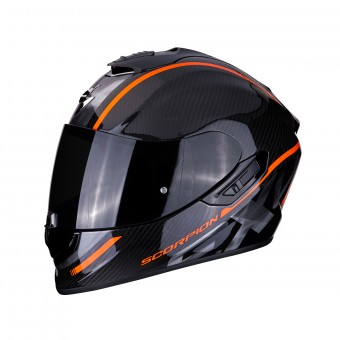 Casque Integral Scorpion Exo 1400 Air Carbon Grand Naranja