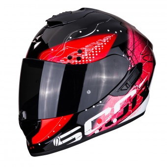 Casque Integral Scorpion Exo 1400 Air Classy Negro Rojo