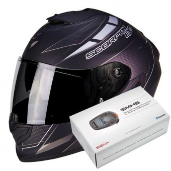 Casque Integral Scorpion Exo 1400 Air Cup Matt Black Chameleon Silver