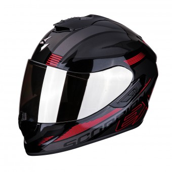 Casque Integral Scorpion Exo 1400 Air Free Negro Rojo