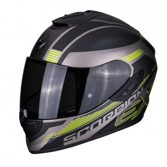 Casque Integral Scorpion Exo 1400 Air Free Titanio Mate Negro Amarillo Fluo
