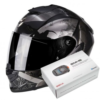 Casque Integral Scorpion Exo 1400 Air Patch Black Silver