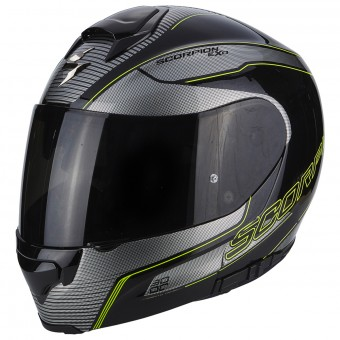 Casque Integral Scorpion Exo 3000 Air Stroll Black Silver Neon Yellow