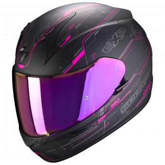 Scorpion Casco de moto EXO-1400 AIR ATTUNE Matt Black-Pink Negro//Rosa XS
