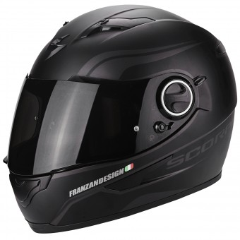 Casque Integral Scorpion Exo 490 Vsion Luz Matt Black Neon Silver