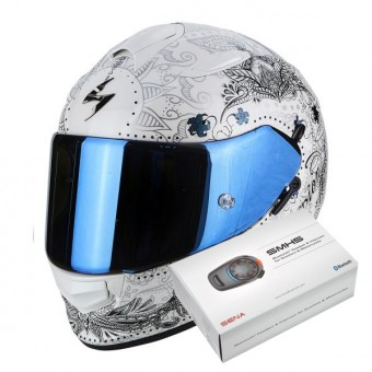 Casque Integral Scorpion Exo 510 Air Azalea Pearl White Silver