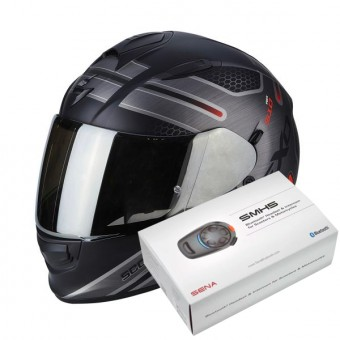 Casque Integral Scorpion Exo 510 Air Route Matt Black Red