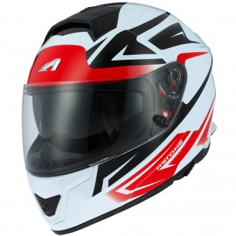 Casque Integral Astone GT 1000F Nash White Red