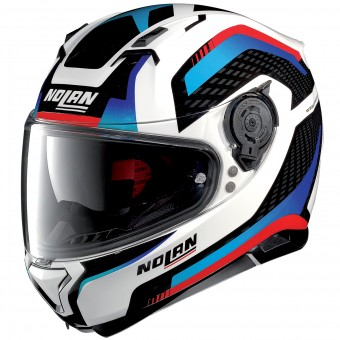 Casque Integral Nolan N87 Arkad N-Com White Red Blue 40