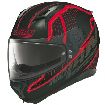 Casque Integral Nolan N87 Harp N-Com Flat Black Red 19