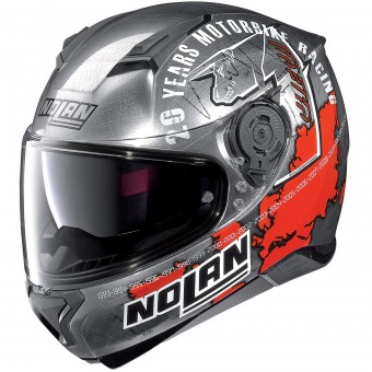 Casque Integral Nolan N87 Iconic Replica N-Com C. Checa Chrome 36