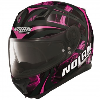 Casque Integral Nolan N87 Ledlight N-Com Black Pink 31