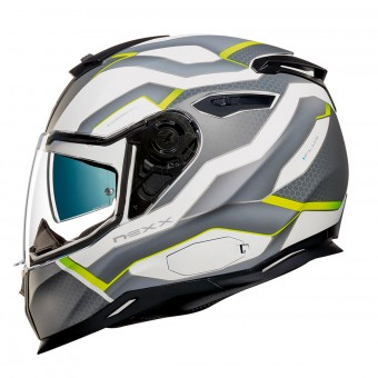 Casque Integral Nexx SX.100 I.Flux White Neon Matt