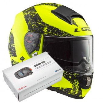 Casque Integral LS2 Vector Sign Matt H-V Yellow Black FF397