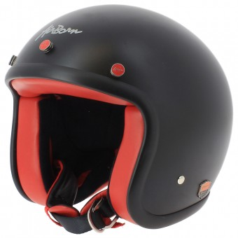 Casque jet Airborn Steve AB 11 Matt Black Red