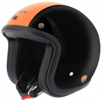Casque jet Airborn Steve AB 28 Black Orange