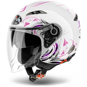 Casque jet Airoh City-One Heart White