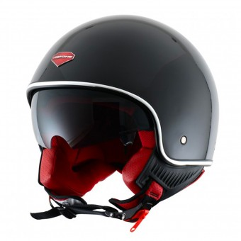 Casque jet Astone Minijet S Retro Gloss Black