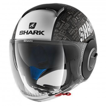 Casque jet Shark Nano Tribute RM Mat KWA