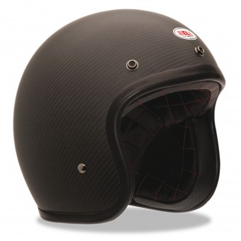 Casque jet Bell Custom 500 Carbon Solid Black