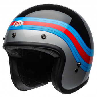 Casque jet Bell Custom 500 Dlx Pulse Black Blue Red