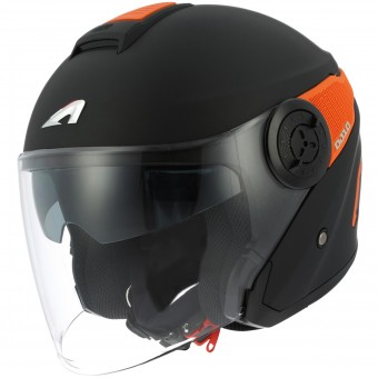 Casque jet Astone DJ10 Matt Black Orange