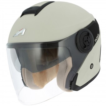 Casque jet Astone DJ10 Matt Cream Black