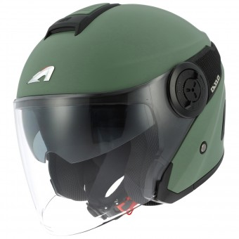 Casque jet Astone DJ10 Matt Khaki Black
