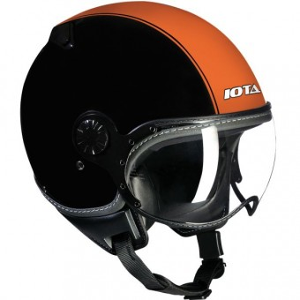 Casque jet IOTA DP04 Run Negro Mate Naranja