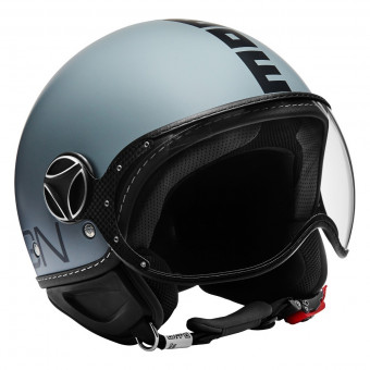 Casque jet Momo Design FGTR Classic Grey Mat Black