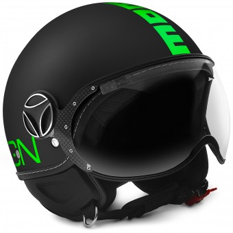 Casque jet Momo Design FGTR Fluo Matt Black Fluo Green