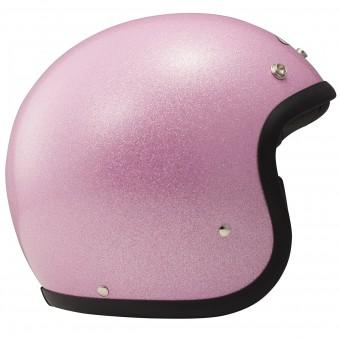 Casque jet Dmd Glitter Rosa