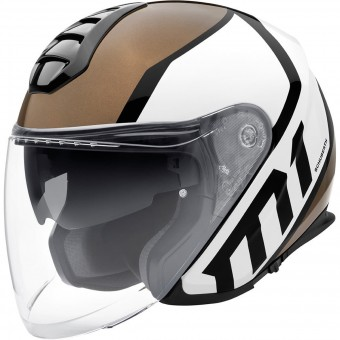 Casque jet Schuberth M1 Flux Bronze