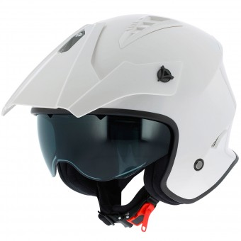 Casque jet Astone Minicross White