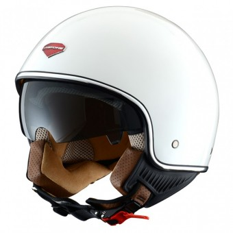 Casque jet Astone Minijet S Retro Gloss White