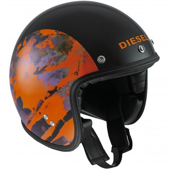Casque jet Diesel Old-Jack OJ 1 Black Orange