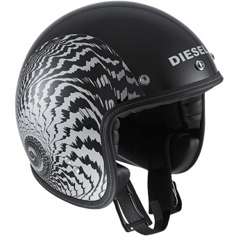 Casque jet Diesel Old-Jack OJ 2 Matt Black Silver