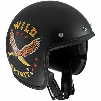 Casque jet Diesel Old-Jack OJ 3 Black Yellow Red
